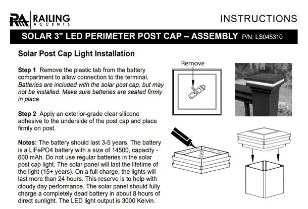 Solar Post Cap Install